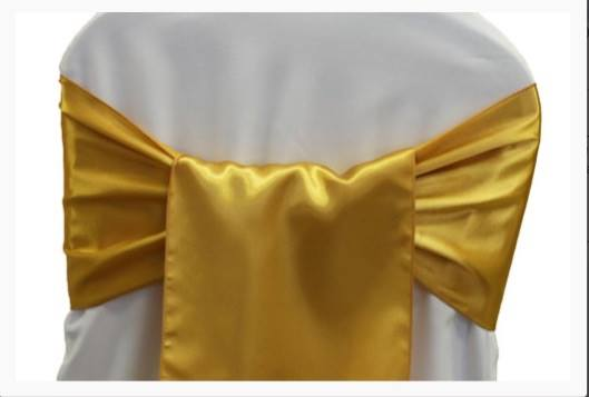 bright gold sashes