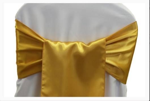 bright gold sashes