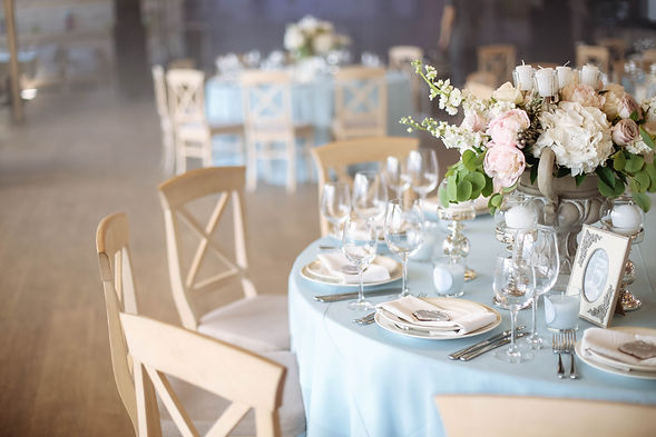 Wedding. Banquet. The chairs and round t