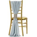 dusty blue chiffon chair sash