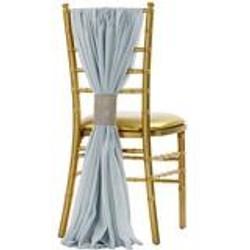 dusty blue chiffon chair sash
