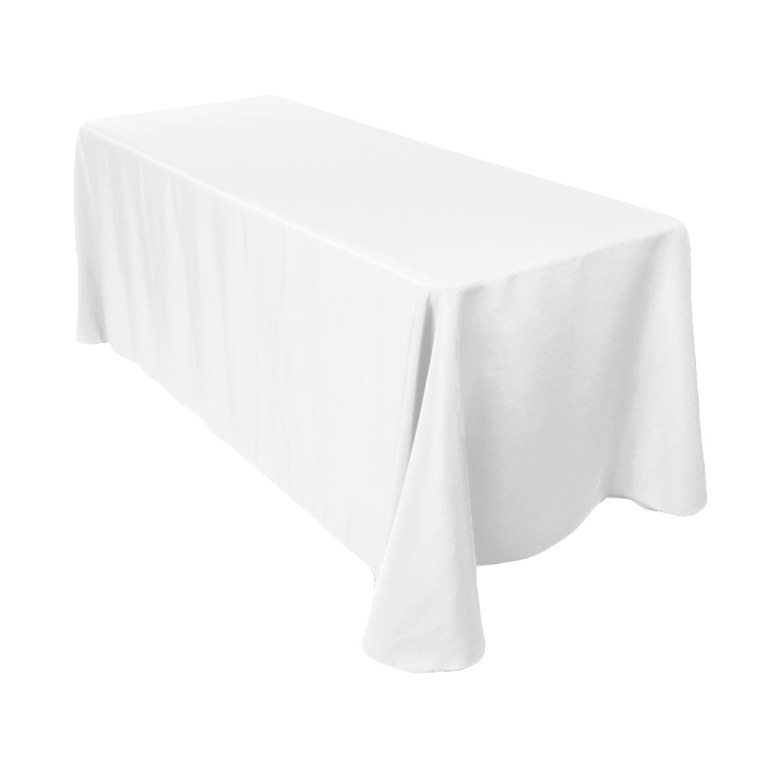 white oblong table cloth