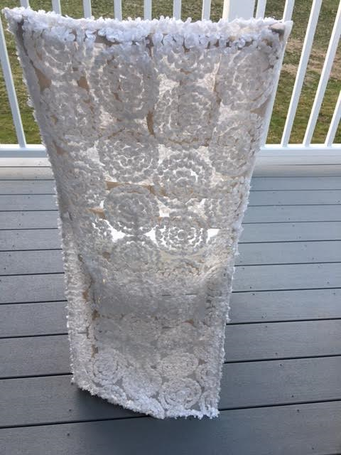 white lace chair cover