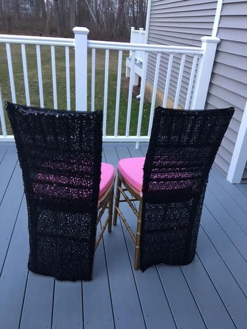 blk lace chair covers