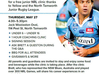 NORTH TAMWORTH BEARS JUNIOR RUGBY LEAGUE CLINIC PROUDLY SPONSORED BY YELLOW