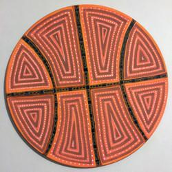 Painted Steel Basketball Shield