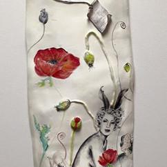 Large Ceramic wall pillow