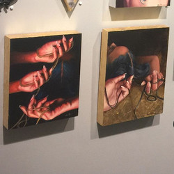 Two sister pieces from my current mini solo on view _moderneden