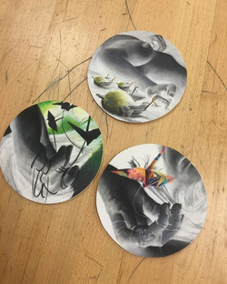 My 3 coasters for #thecoastershow opening tonight _laluzdejesus