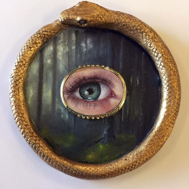 Lovers Eye oil and ceramic