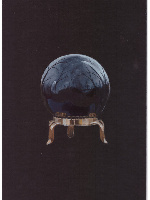 """""""Obsidian Ball"""" original painting for the black edition obsidian oracl"""