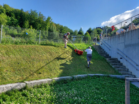 Garteneinsatz der NS-Männer