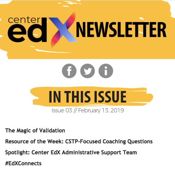 Center EdX Newsletter // Issue 03
