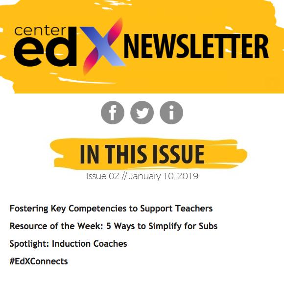 Center EdX Newsletter