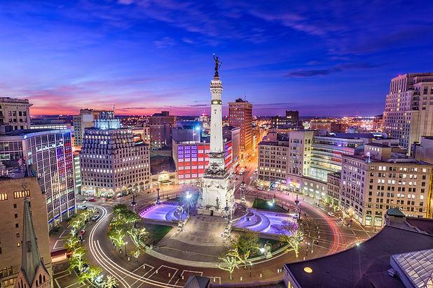 Indianapolis, Indiana, USA skyline over