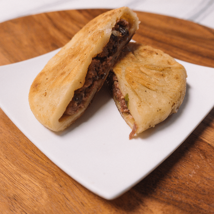 Pan-Fried Minced Beef Bun