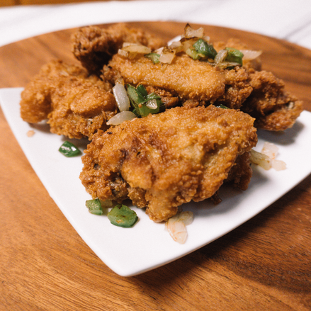 Crispy Chicken Wings w/ Salted Pepper