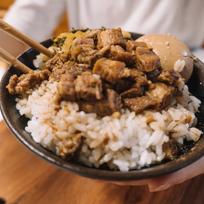 Braised Diced Pork Belly on Rice