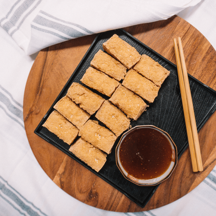 Taiwanese Crispy Fried Tofu w/ Garlic Sauce