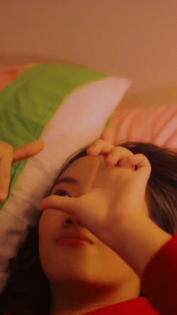 Elaine in bed