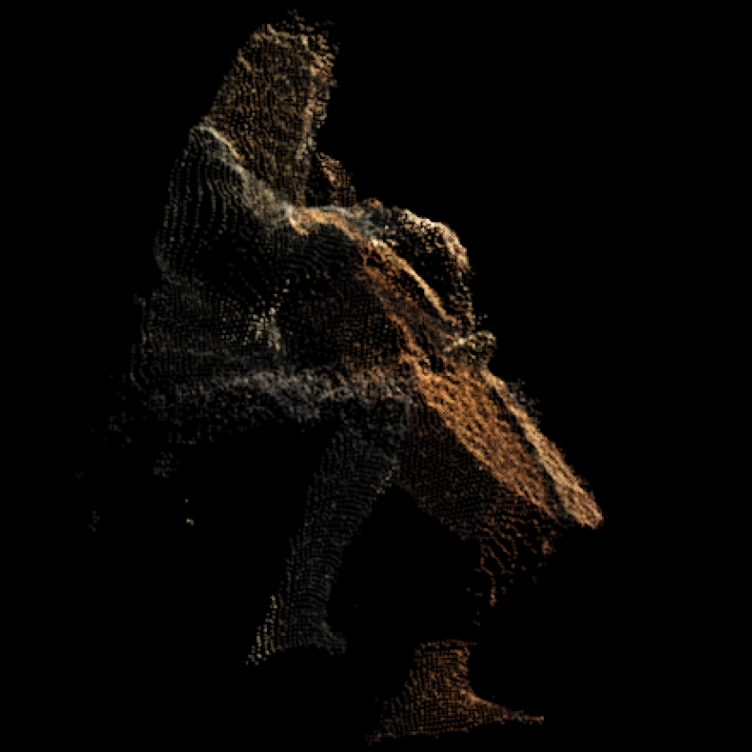 Cellist DepthKit point cloud render
