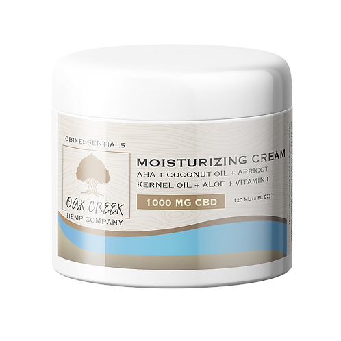 1000 MG CBD Moisturizing Cream (unscented) - 4 oz