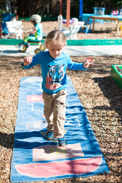 Hopscotch in our play yard
