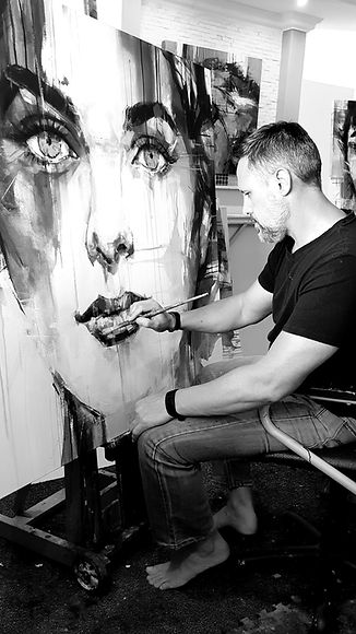 Gerart South African Artist, Gerart Exclusive Art gallery, Modern Abstract Wildlife Portrait Artist, Art Exhibition