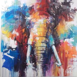 Elephant Color Splash