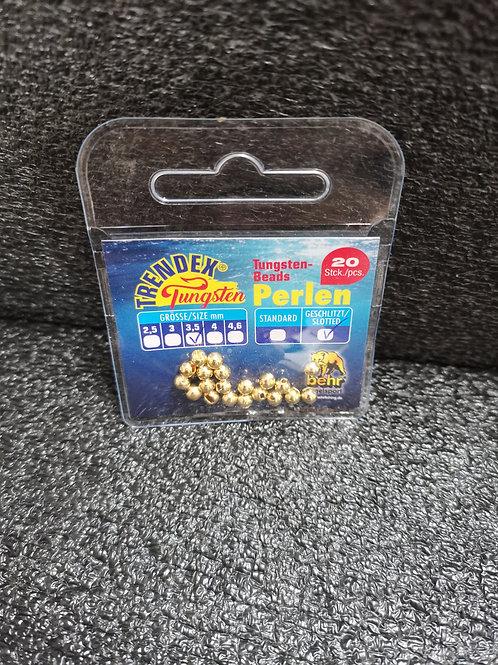 Tungsten Perlen Gold 3,5mm