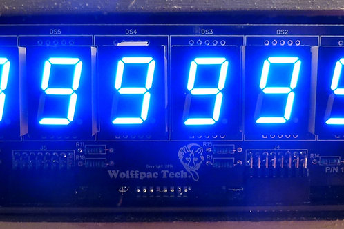 Blue 6-Digit display kit for Bally/Ster