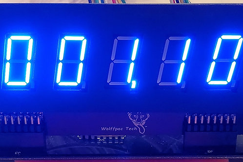 4X, Blue 7-Digit display kits for Bally/Stern