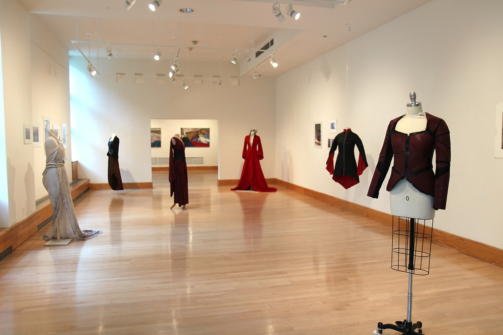 Picture of a fashion gallery show