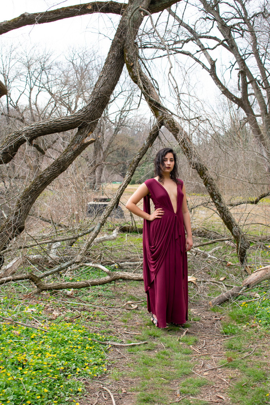 Woman Under a Fallen Tree (2018)