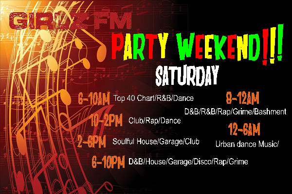 weekend schedule
