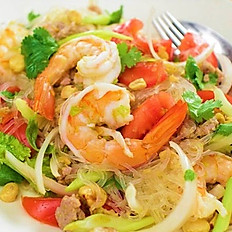 SHRIMP STIR FRIED CELLOPHANE NOODLE - MIẾN XÀO MỀM TÔM