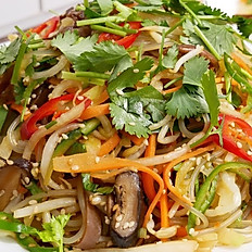 VEGETARIAN STIR FRIED CELLOPHANE NOODLE - MIẾN XÀO MỀM CHAY