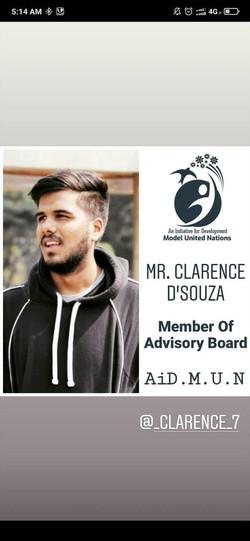 Mr. Clarence D'Souza