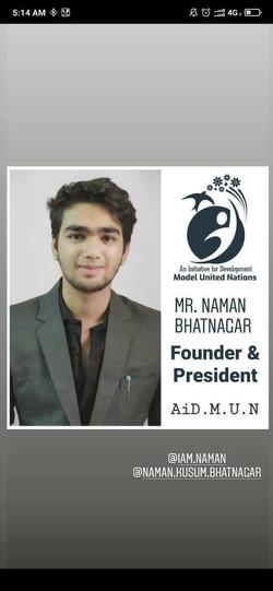 Mr. Naman Bhatnagar