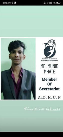 Mr. Munib Mhate