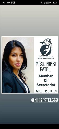 Miss. Nikki Patel
