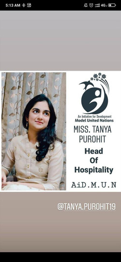 Miss. Tanya Purohit