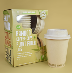 Compostable Bamboo Fiber Coffee Cups
