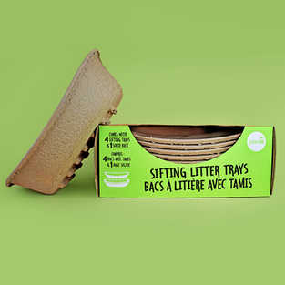 Biodegradable Sifting Cat Litter boxes