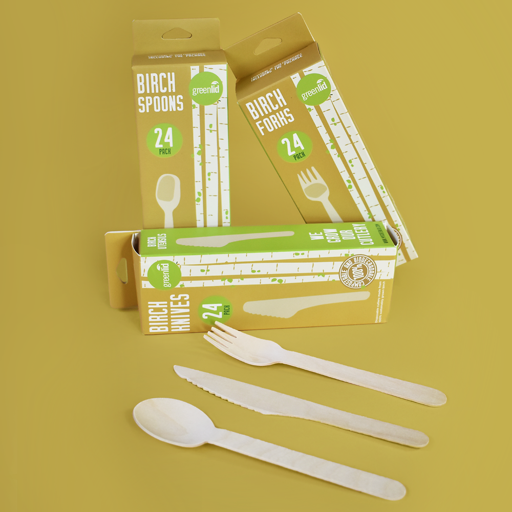 Greenlid's Birch cutlery in a store