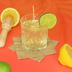 Wheat cocktail straw and recycled napkin