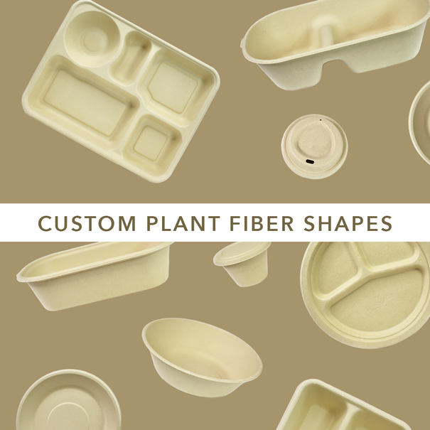 Customizable plant fiber shapes