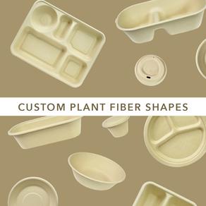 Customizable plant fiber shapes