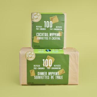Unbleached Recycled Paper Napkins