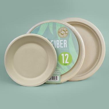 Plant Fiber Tableware (Plates and Bowls)